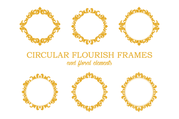 Circular Flourish Frames Graphic Illustrations By Pedro Alexandre Teixeira
