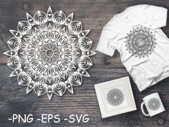 Download Free Circular Pattern Mandala Art 51 Graphic By Azrielmch Creative for Cricut Explore, Silhouette and other cutting machines.