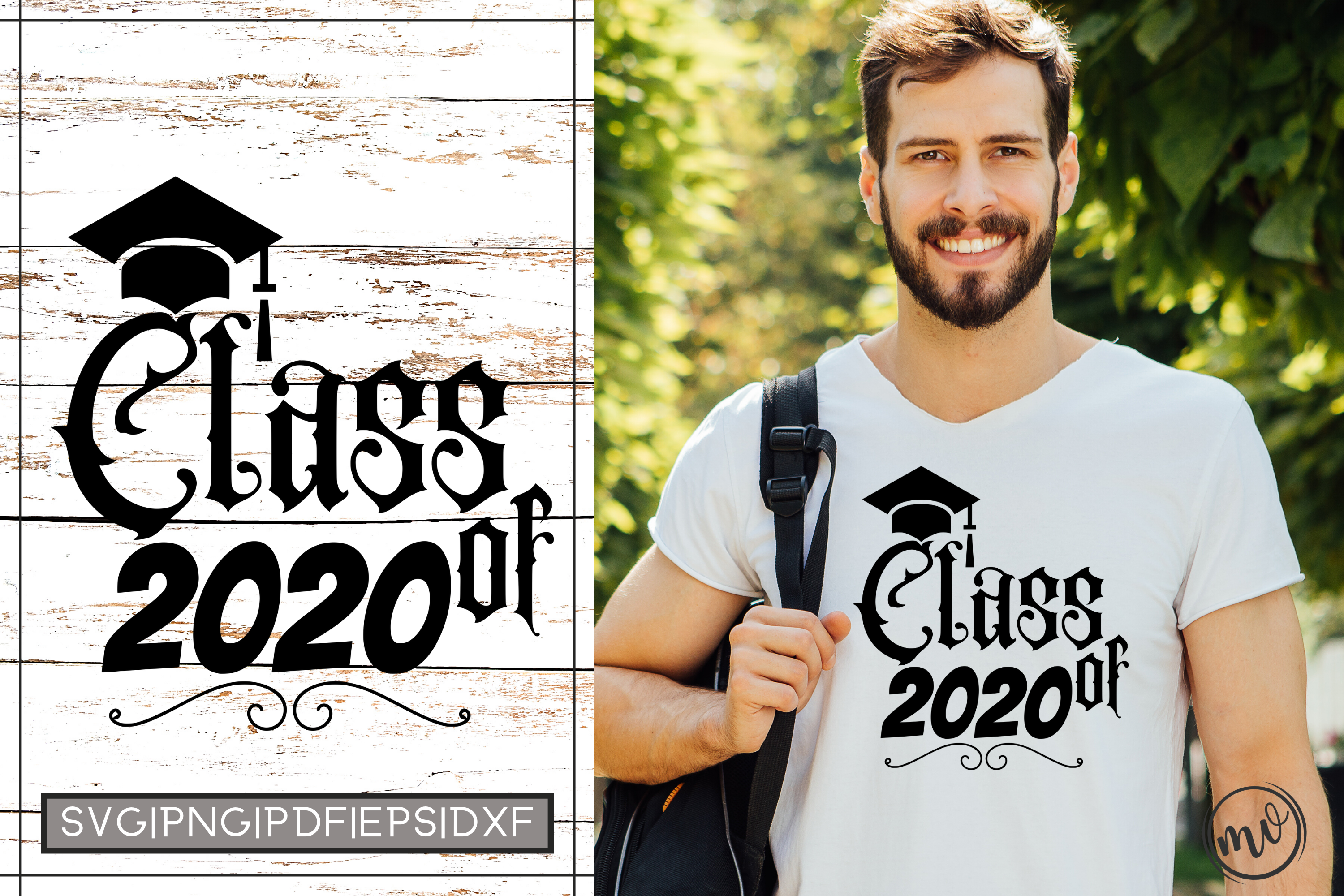 Download Free Class Of 2020 Graduation Cut File Graphic By Mockup Venue for Cricut Explore, Silhouette and other cutting machines.