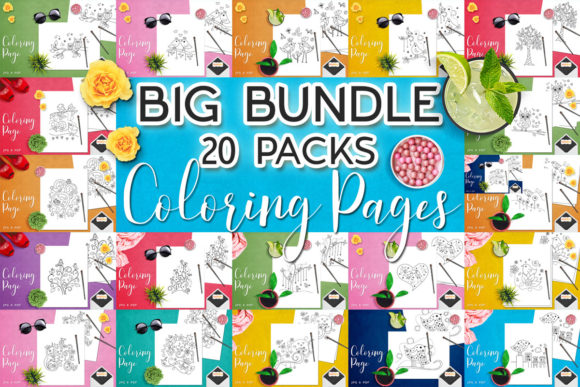 Print on Demand: Coloring Pages Bundle  By Revidevi