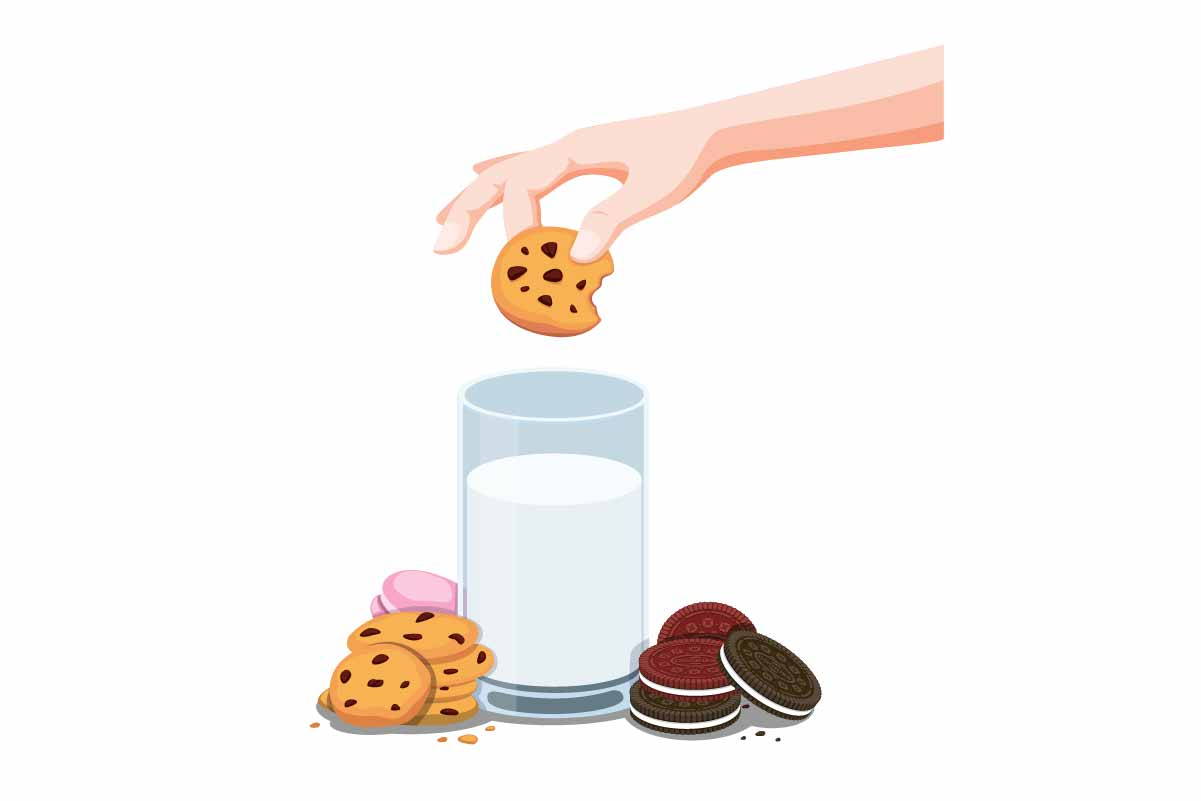 Download Free Cookies Biscuit And Fresh Milk Vector Graphic By Aryo Hadi for Cricut Explore, Silhouette and other cutting machines.