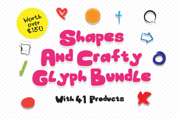 Print on Demand: Crafting & Shapes Glyph Bundle  By GraphicsBam Fonts
