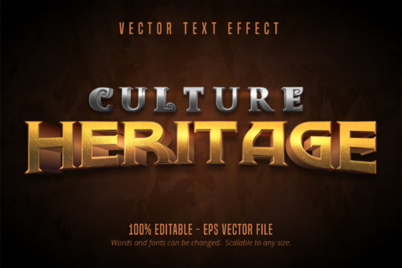 Print on Demand: Culture Heritage Text Effect Graphic Graphic Templates By Mustafa Bekşen