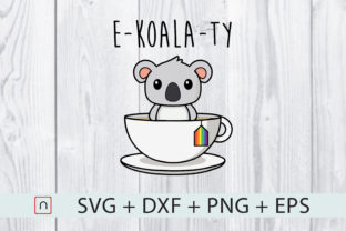 Print on Demand: E-Koala-Ty LGBTQ Cut Files Graphic Print Templates By Novalia