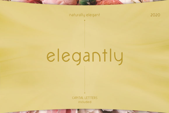 Print on Demand: Elegantly Sans Serif Font By franchi.creative