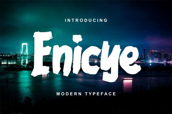 Print on Demand: Enicye Script & Handwritten Font By Vunira