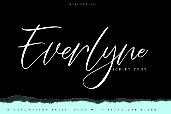 Print on Demand: Everlyne Script & Handwritten Font By Vunira