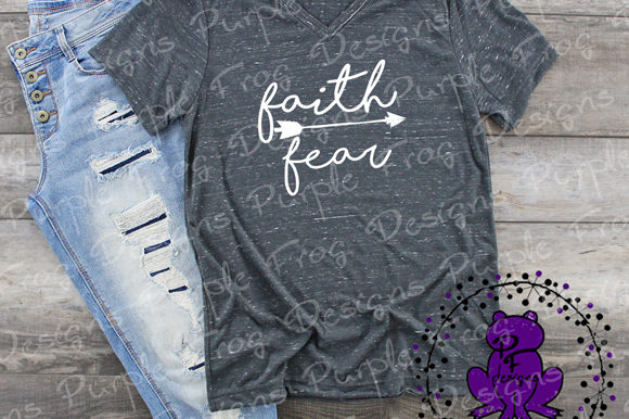 Download Free Faith Over Fear Religious Clip Art Graphic By Heather Terry for Cricut Explore, Silhouette and other cutting machines.