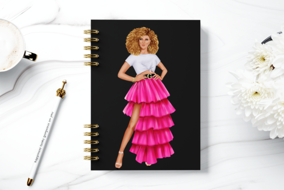 Print on Demand: Fashion Summer Girls Clipart Set Graphic Illustrations By TheGGShop - Image 8