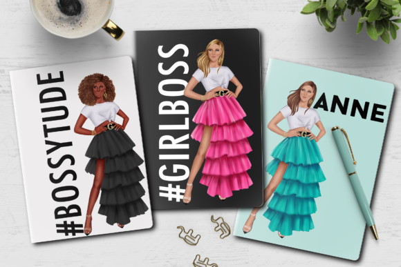 Print on Demand: Fashion Summer Girls Clipart Set Graphic Illustrations By TheGGShop - Image 9