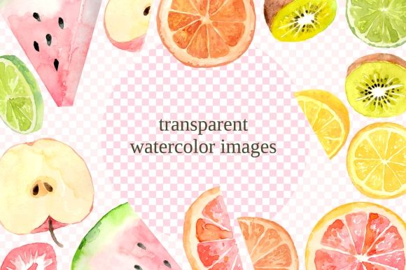 Print on Demand: Fruit Slices Watercolor Clipart Set Graphic Illustrations By roselocket - Image 4