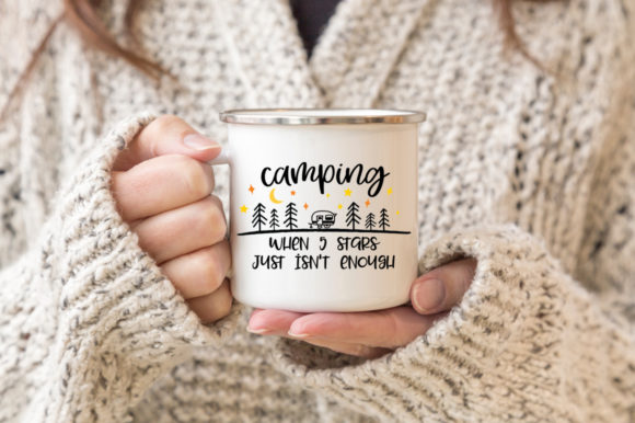 Download Free Funny Camping Camping When 5 Stars Graphic By Simply Cut Co for Cricut Explore, Silhouette and other cutting machines.