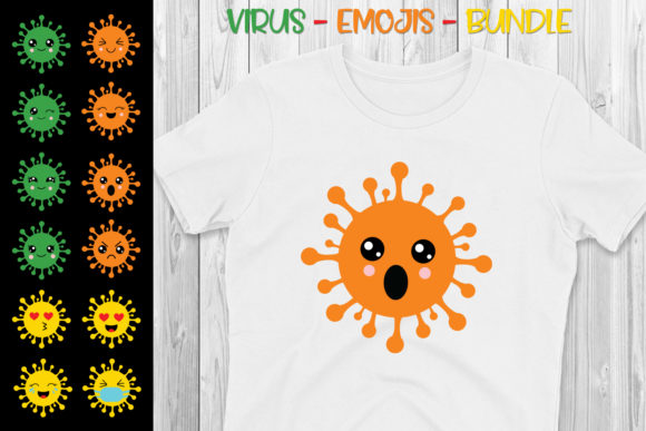 Download Free Funny Virus Emojis Bundle Graphic By All About Svg Creative for Cricut Explore, Silhouette and other cutting machines.