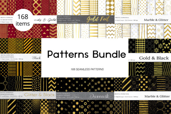 Download Free Geometric Seamless Patterns Bundle Graphic By Bonadesigns for Cricut Explore, Silhouette and other cutting machines.