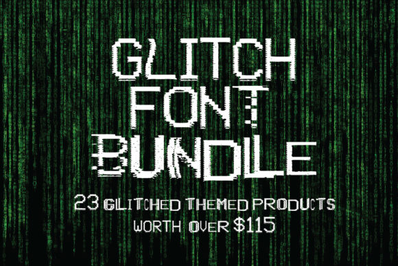 Print on Demand: Glitch Font Bundle  By GraphicsBam Fonts
