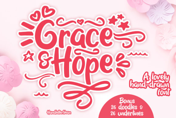 Print on Demand: Grace & Hope Script & Handwritten Font By yean.aguste
