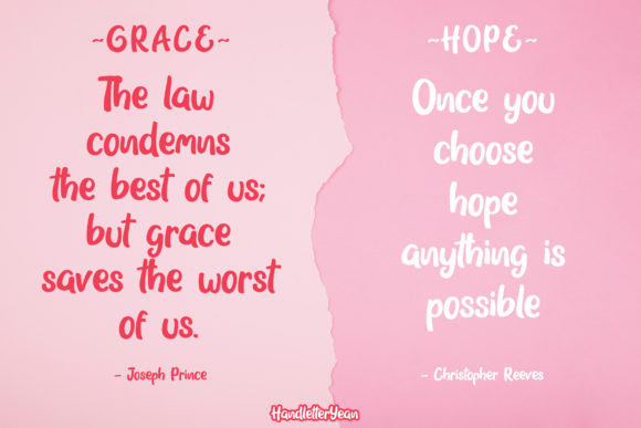 Print on Demand: Grace & Hope Script & Handwritten Font By yean.aguste - Image 2