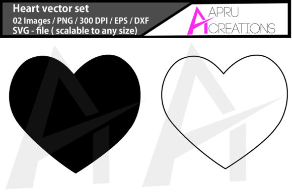 Print on Demand: Heart Shape/ Outline Gráfico Iconos Por aparnastjp