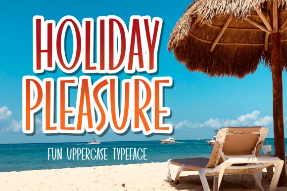 Print on Demand: Holiday Pleasure Display Font By DUMADI