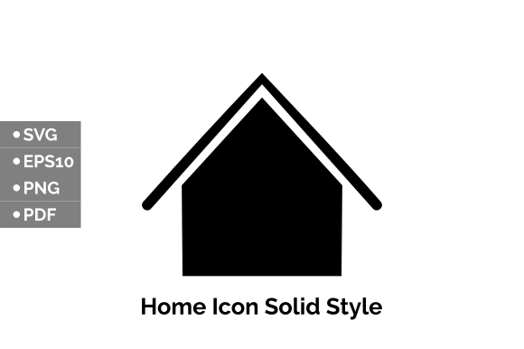 Download Free Home Icon Design Solid Style Graphic By Taufikr290 Creative for Cricut Explore, Silhouette and other cutting machines.