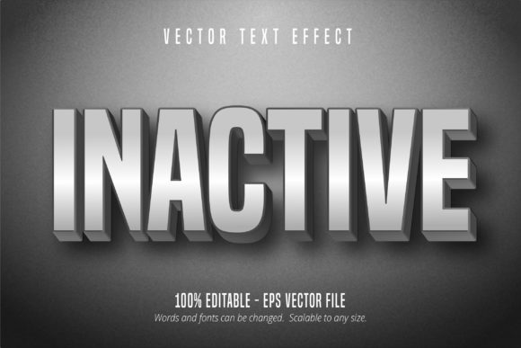 Print on Demand: Inactive Grey Color Text Effect Graphic Graphic Templates By Mustafa Bekşen
