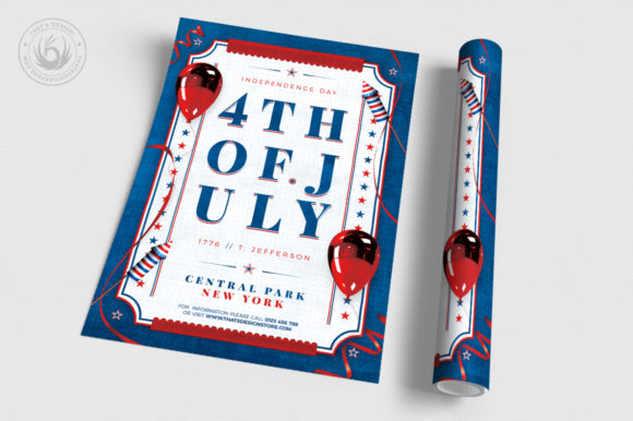 Download Free Independence Day Flyer Template V3 Graphic By Thatsdesignstore for Cricut Explore, Silhouette and other cutting machines.