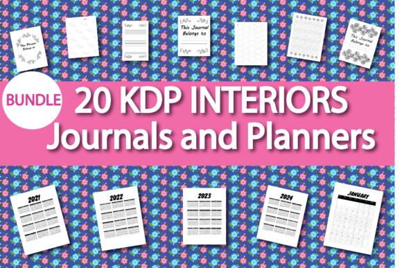 Print on Demand: KDP Interior Journal and Planner Bundle  By Ivana Prue