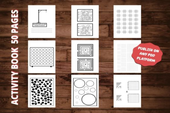 Download Free Kdp Activitybook Interior Kids Graphic By Interior Kids for Cricut Explore, Silhouette and other cutting machines.