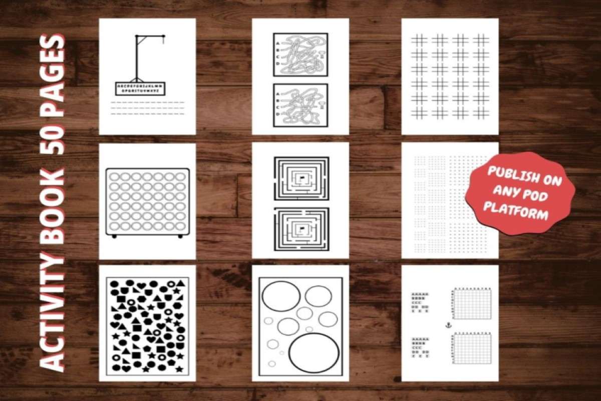 Download Free Kdp Kids Activity Book Interior Amazon Graphic By Interior Kids for Cricut Explore, Silhouette and other cutting machines.