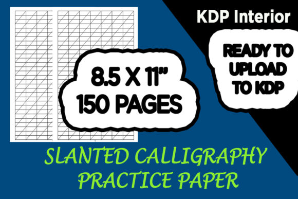 Print on Demand: KDP Ready to Upload Calligraphy Paper Graphic KDP Interiors By Gurus Kdp Templates