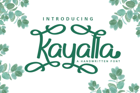 Download Free Kayalla Font By Inermedia Studio Creative Fabrica for Cricut Explore, Silhouette and other cutting machines.