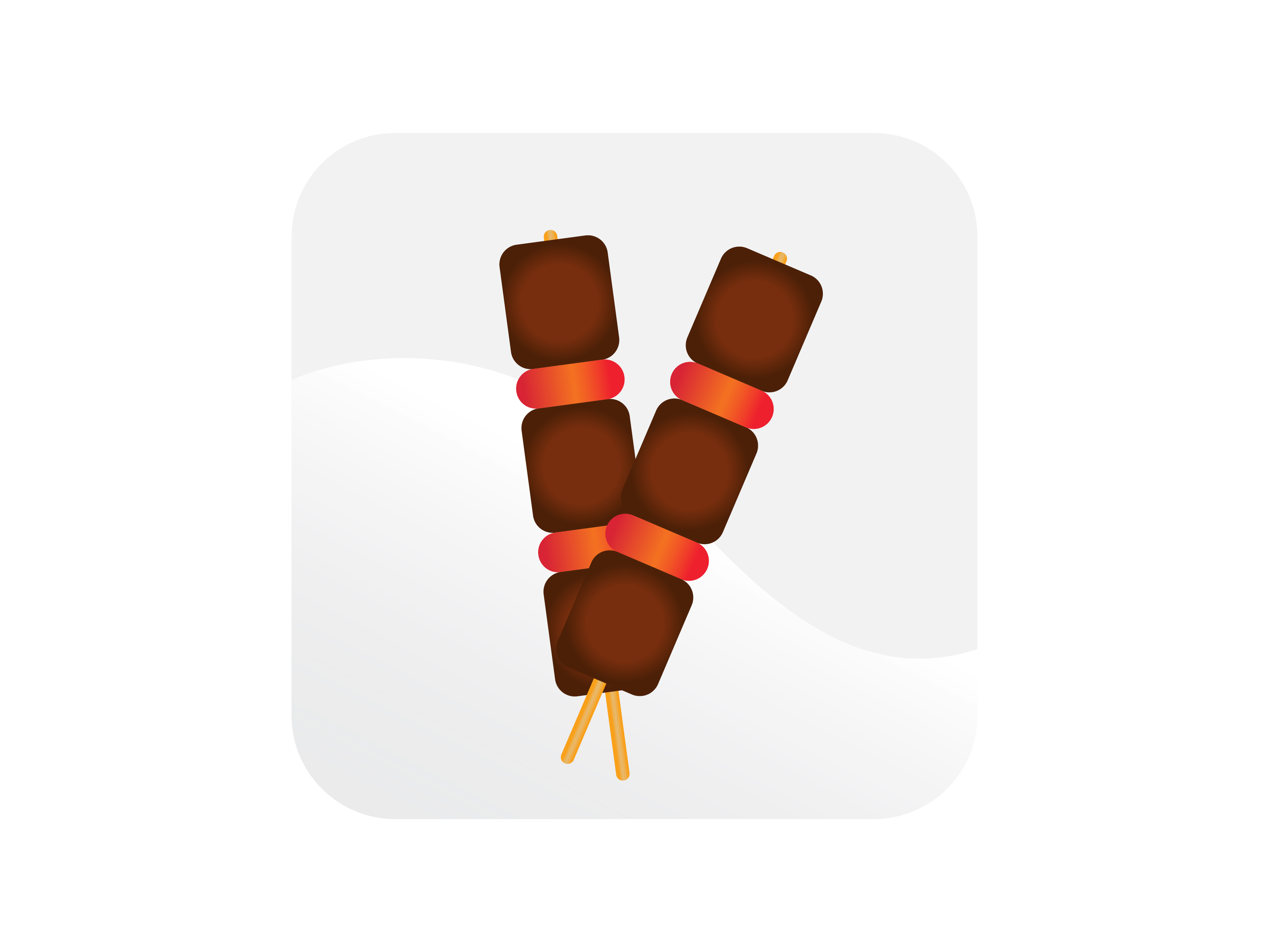 Download Free Kebab Skewers Icon Graphic By Samagata Creative Fabrica for Cricut Explore, Silhouette and other cutting machines.