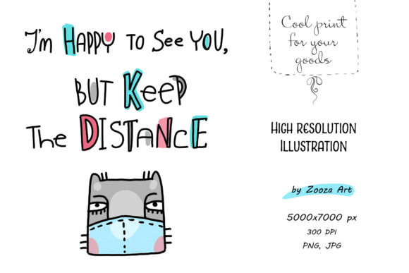 Print on Demand: Keep the Distance - Illustration Graphic Illustrations By Zooza Art