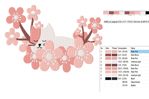 Download Free Kitten In A Cloud Of Flowers Creative Fabrica for Cricut Explore, Silhouette and other cutting machines.