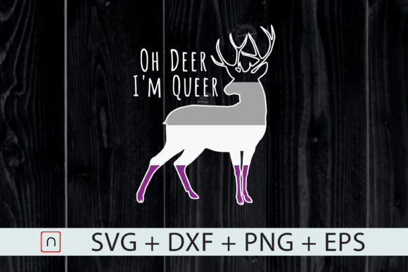 Download Free Lgbt Oh Deer I M Queer Gay Pride Month Graphic By Novalia SVG Cut Files