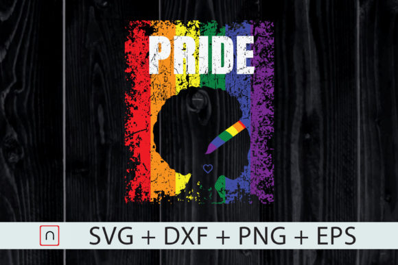 Download Free Lgbt African American Gay Pride Queen Graphic By Novalia for Cricut Explore, Silhouette and other cutting machines.