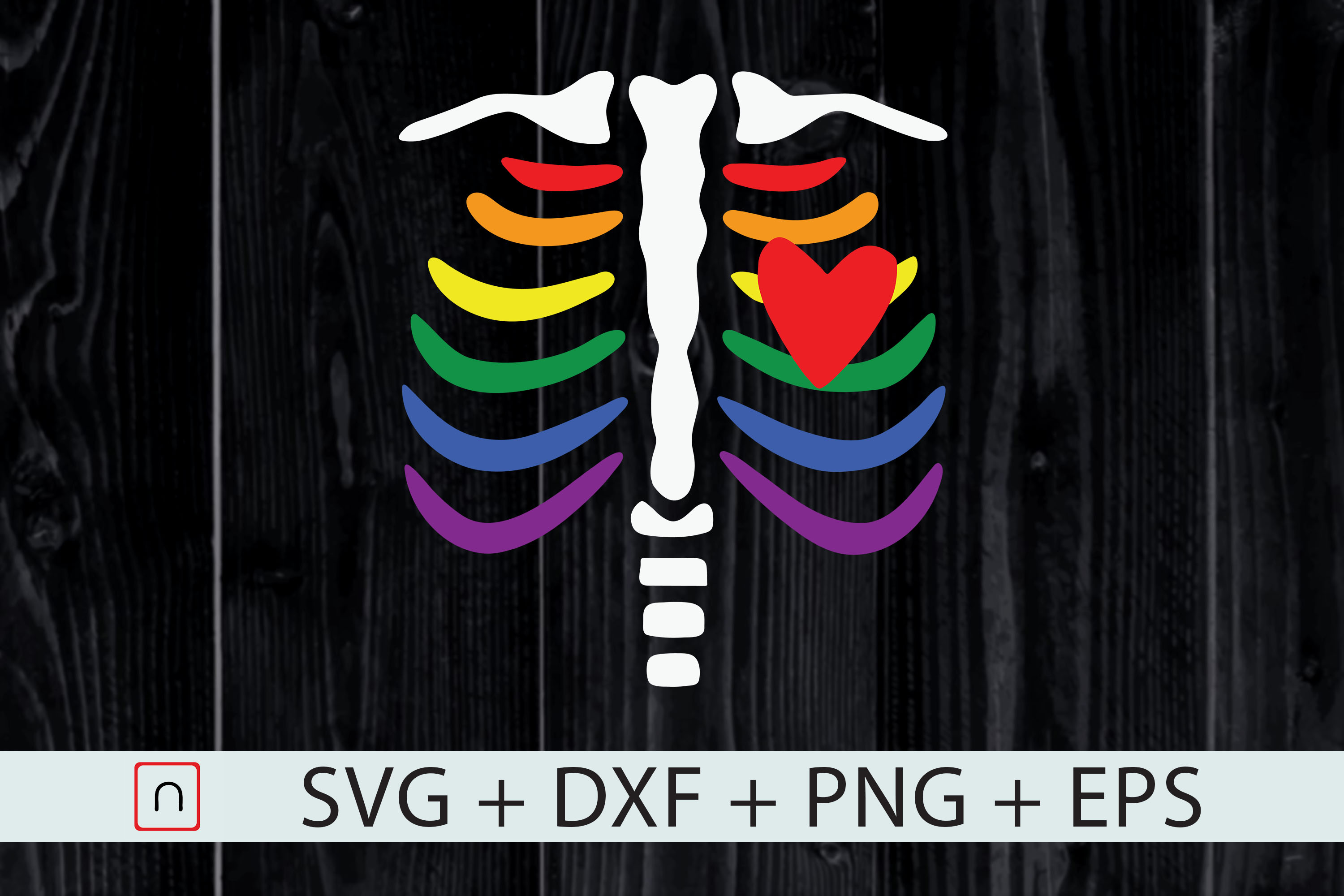 Download Free Lgbt Pride Rib Cage Funny Gift Lgbtq Graphic By Novalia for Cricut Explore, Silhouette and other cutting machines.
