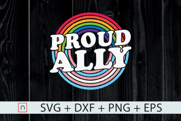 Download Free Lgbt Proud Ally Gay Pride Month Rainbow Graphic By Novalia for Cricut Explore, Silhouette and other cutting machines.