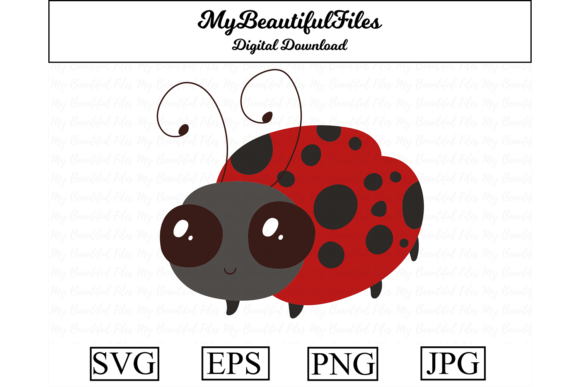 Download Free Ladybug Graphic By Mybeautifulfiles Creative Fabrica for Cricut Explore, Silhouette and other cutting machines.