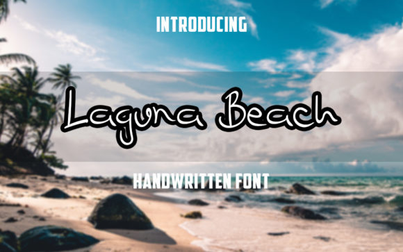 Print on Demand: Laguna Beach Script & Handwritten Font By Graph Arts