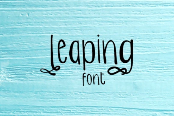 Print on Demand: Leaping Script & Handwritten Font By carina2