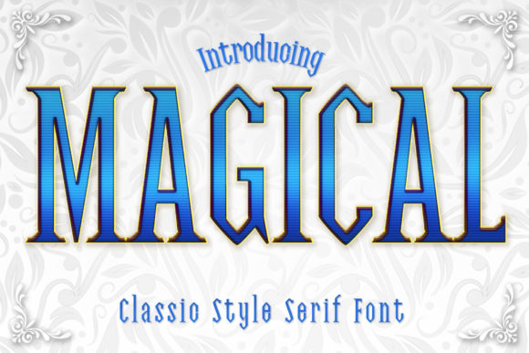Print on Demand: Magical Serif Font By numnim - Image 1
