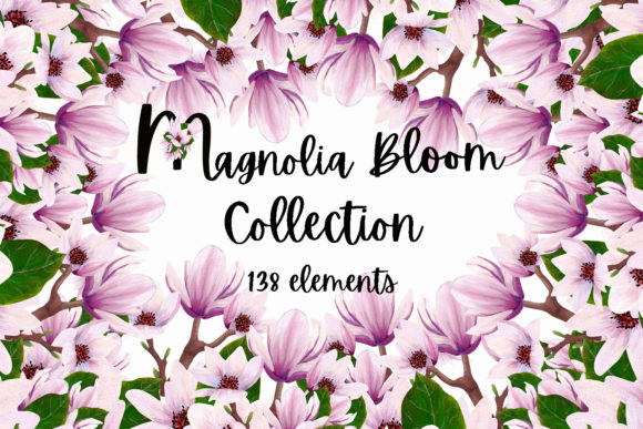 Print on Demand: Magnolia Bloom Collection Graphic Illustrations By Andreea Eremia Design