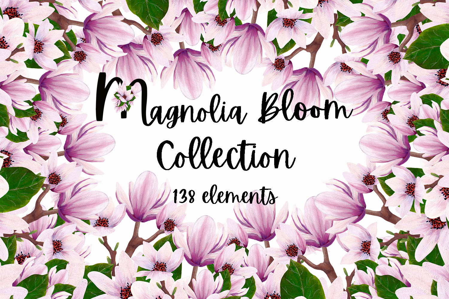 Download Free Magnolia Bloom Collection Graphic By Andreea Eremia Design for Cricut Explore, Silhouette and other cutting machines.