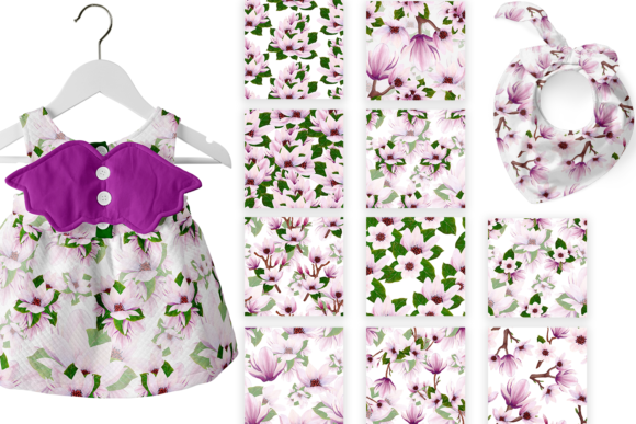 Print on Demand: Magnolia Pattern Collection Graphic Patterns By Andreea Eremia Design - Image 4