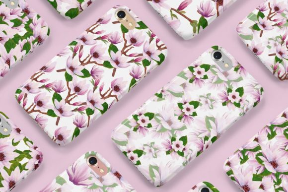 Print on Demand: Magnolia Pattern Collection Graphic Patterns By Andreea Eremia Design - Image 5