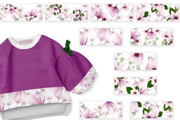 Print on Demand: Magnolia Pattern Collection Graphic Patterns By Andreea Eremia Design - Image 7