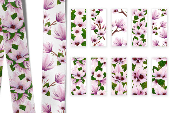 Print on Demand: Magnolia Pattern Collection Graphic Patterns By Andreea Eremia Design - Image 8