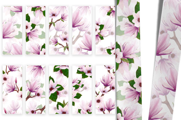 Print on Demand: Magnolia Pattern Collection Graphic Patterns By Andreea Eremia Design - Image 9