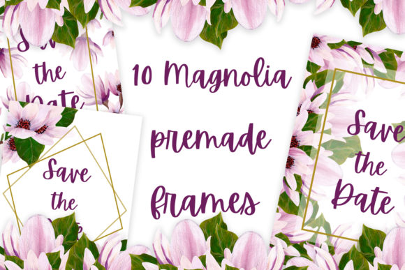Print on Demand: Magnolia Premade Temmplates Graphic Illustrations By Andreea Eremia Design